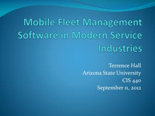 Mobile Fleet Management Software in Modern Service Industries