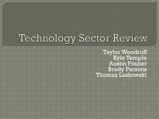 Technology Sector Review