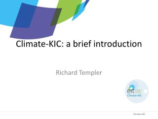 Climate-KIC: a brief introduction