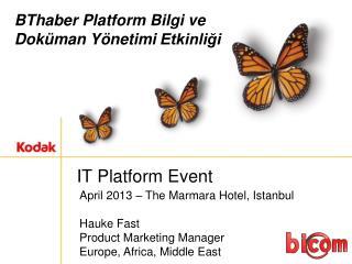 IT Platform Event