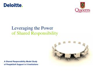 Leveraging the Power of Shared Responsibility