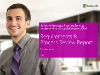 Software Assurance Planning Services Implementing Microsoft Dynamics CRM