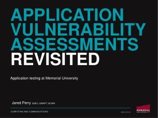 Application Vulnerability Assessments