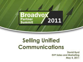 Selling Unified Communications