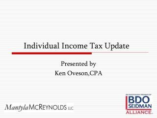 Individual Income Tax Update