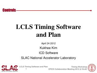 LCLS Timing Software  and Plan