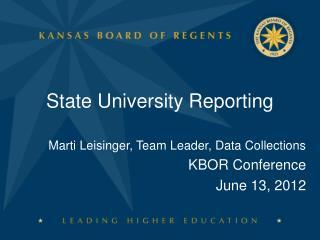 State University Reporting
