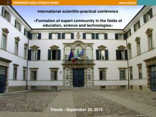 International scientific-practical conference «Formation of expert community in the fields of education, science and te