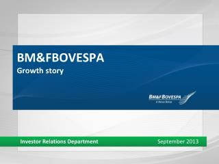 BM&FBOVESPA Growth story