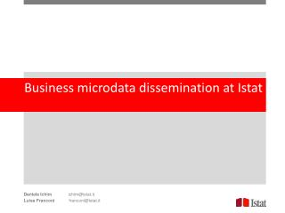Business  microdata dissemination at  Istat