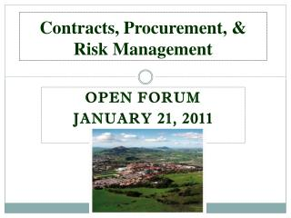 Contracts, Procurement, & Risk Management