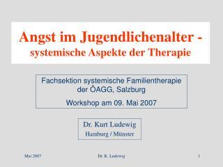 angst im jugendlichenalter - systemische aspekte der therapie