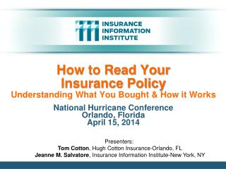 How to Read Your  Insurance Policy Understanding What You Bought & How it Works