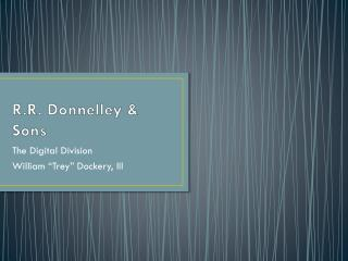 R.R. Donnelley & Sons