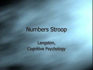 numbers stroop