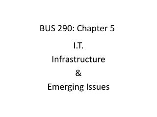 BUS 290: Chapter 5