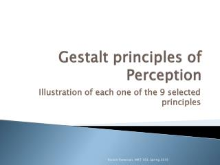 Gestalt principles of Perception