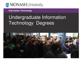 Undergraduate Information Technology  Degrees
