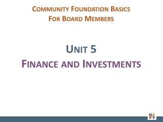 Unit  5 Finance and Investments