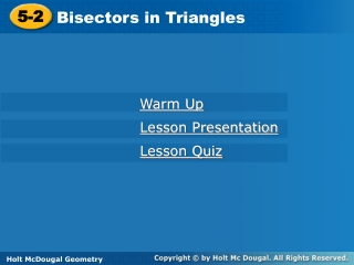 chapter 5 properties of triangles  perpendicular and angle bisectors sec 5.1