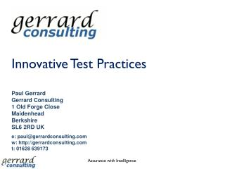 Innovative Test Practices