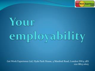 Your employability