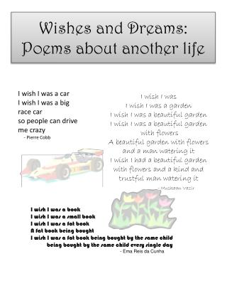 Wishes and Dreams: Poems about another life