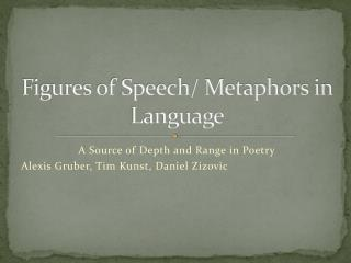 Figures of Speech/ Metaphors in Language