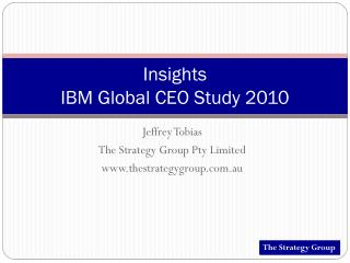 Insights IBM Global CEO Study 2010
