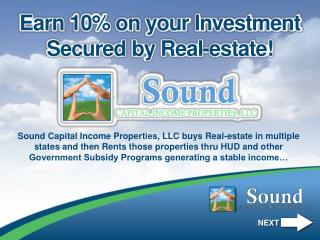 Earn 10% on your Investment Secured by Real-estate!