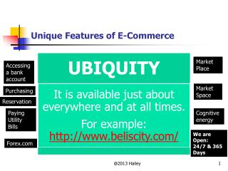 Unique Features of E-Commerce