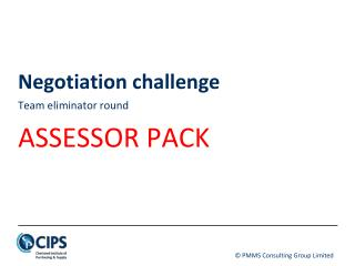 Negotiation challenge