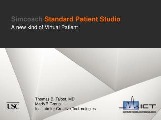 Simcoach  Standard Patient Studio