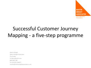 Successful Customer Journey Mapping - a five-step programme