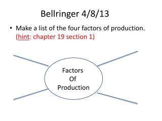 Bellringer 4/8/13