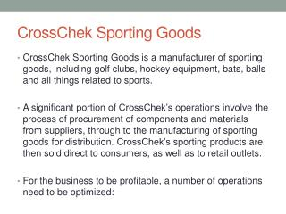 CrossChek  Sporting Goods
