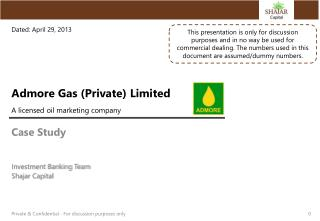 Admore Gas (Private) Limited A licensed oil marketing company