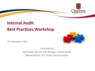 Internal Audit Best Practices Workshop