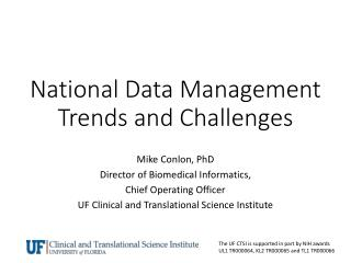 National Data Management Trends and Challenges