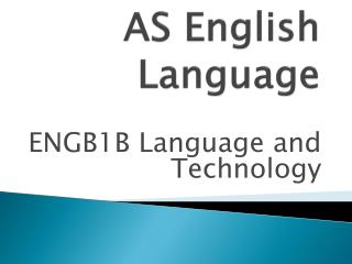 AS English Language