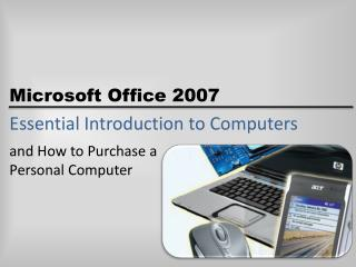 Essential Introduction to Computers