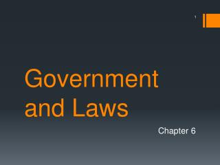 Government and Laws