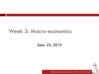 Week 3: Macro-economics
