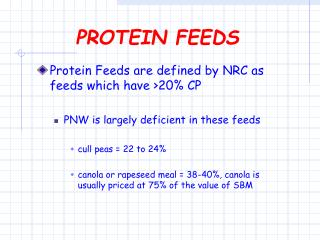PROTEIN FEEDS