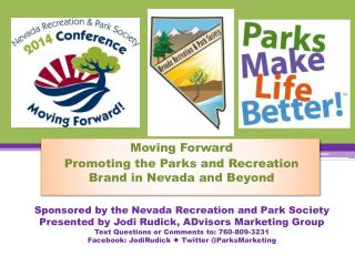 Moving Forward Promoting the Parks and Recreation Brand in Nevada and Beyond