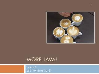 More Java!