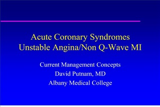 acute coronary syndromes unstable angina