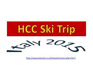 HCC Ski Trip