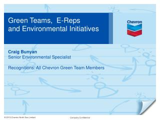 Green Teams,  E-Reps  and Environmental Initiatives