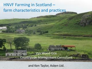 HNVF Farming in Scotland –  farm characteristics and practices